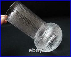 MID Century Vintage Bark Textured Glass Vase Scandinavian Modernist Iittala