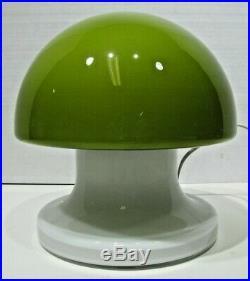 MID Century Vintage Modernist Sweden Art Glass Mushroom Lamp MCM Eames