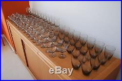 MID Century Vintage Set Copenhagen Smoke Glass Ware Holmegaard MCM Danish Modern