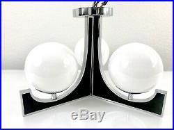 MOE LIGHT 11.5 Chandelier Mid Century Modern Glass Orb Flush Ceiling Lighting