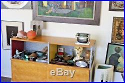 Mandruzzato Vtg Mid Century Italian Modern Sommerso Murano Art Glass Casket Box