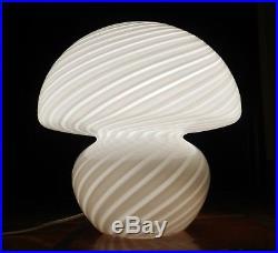 Mid Century 12 Venini Vetri Murano Glass Swirl Mushroom Lamp Vintage Modern