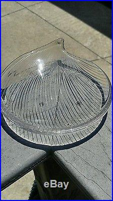 Mid Century 1957 Signed Tapio Wirkkala Iittala Art Object Glass Bowl Line Cut