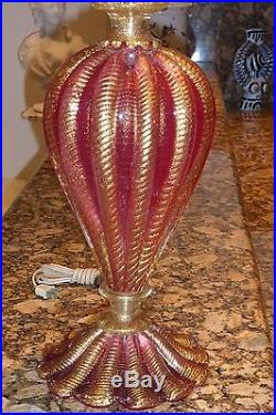 Mid-Century Barovier & Toso Murano Glass Table Lamp Venini Seguso Eames Era