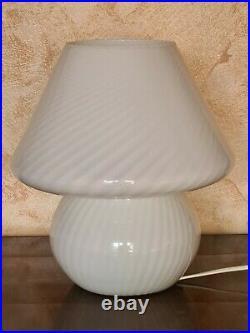 Mid Century Design Glasses Murano Mushroom 1970 Mushroom Lamp, Made IN Italy