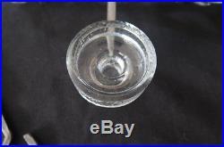 Mid Century Erik Hoglund Art Glass Candle Chandelier for Kosta Boda Sweden MCM