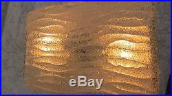 Mid Century Ice Glass Sconces Wall Lamp or Flush Mount 1960s Murano Italy