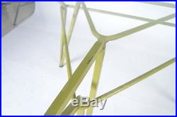 Mid-Century Maurizio Tempestini for Salterini Geometric Iron Table with Glass To