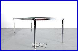 Mid Century Modern Coffee Table 50s Chrome & Glass Couchtisch Germany 50er