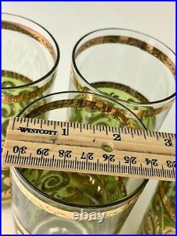 Mid Century Modern Culver Toledo Highball Drinking Glasses 4