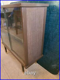Mid Century Modern Display Cabinet China Book Case withSliding Glass Doors