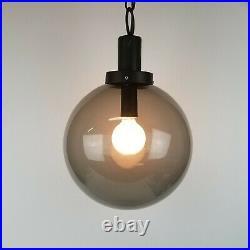 Mid Century Modern Entry Lamp Light Swag Exterior Smoke Glass Ceiling Globe L&S