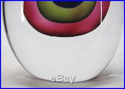 Mid Century Modern Flavio Poli Seguso Sommerso Teardrop Art Glass Sculpture! Yqz