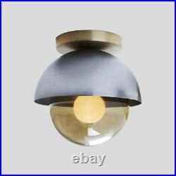 Mid Century Modern Flush Light Ceiling Lamp Globe Glass Pendant Lighting Fixture