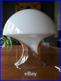 Mid Century Modern Gino Vistosi Murano Glass Mushroom Table Lamp, Italy, 1970s