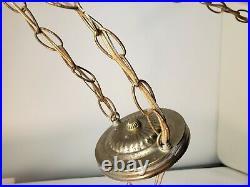 Mid Century Modern Globe Orb Chandelier 2 Starburst Chunky Diamond Glass Crystal