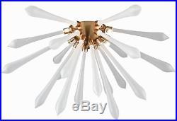 Mid Century Modern Hollywood Glam Sputnik Glass & Gold Flush Mount Ceiling Light