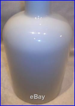 Mid-Century Modern Holmegaard Denmark Opal White Cased Gulvvase Gul Vase MINT NR