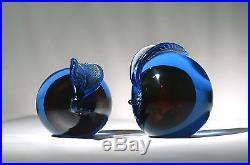 Mid Century Modern ITALIAN Art Glass PEAR & APPLE Murano Bookends PAPERWEIGHTS