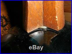 Mid Century Modern Lamp Blue Glass Pineapple Shaped 10 round 35 Tall, 3-way