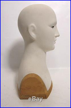 Mid-Century Modern Mannequin Figural Head/Bust withGlass Eyes Counter Display yqz