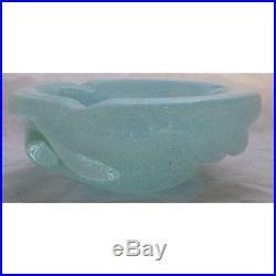 Mid Century Modern Murano Glass Carlo Scarpa Bowl Gold