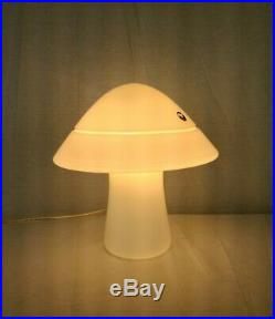 Mid Century Modern Murano Glass Mushroom Lamp Original Label