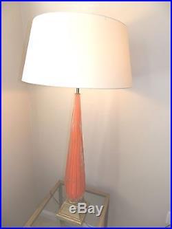 Mid Century Modern Orange Murano Glass Table or Floor Lamp BAROVIER & TOSO