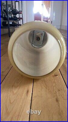 Mid Century Modern Smoked Brown Glass Pendant Light 70s Vintage German Made