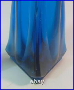 Mid Century Modern VIKING Art Glass Stretch Glass Swung VASE BLUENIQUE TEAL