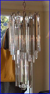 Mid Century Modern Venini Murano Glass Chandelier
