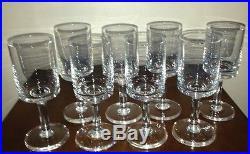 Mid Century Modern White Wine Crystal Glasses KARIN Dansk Designs France Set/8
