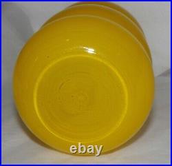 Mid Century Modernist SCANDINAVIAN Swedish YELLOW HOOPED CASED GLASS VASE 10
