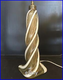 Mid-Century Murano Glass Lamp Attributed to Barovier