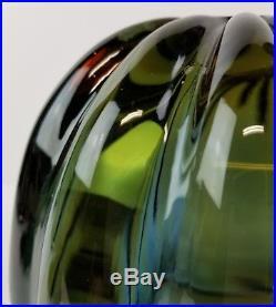Mid Century Murano Glass Pendant Lamp Light Hanging Lobed Italy Italian Cased B