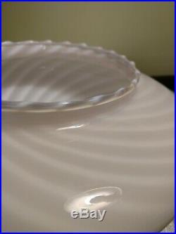 Mid Century Murano Pink Swirl Mushroom Glass Globe Lamp Shade Venini Vetri