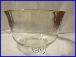 Mid Century Silver Fade Complete Punch Bowl Set Dorothy Thorpe Vintage Retro 15p