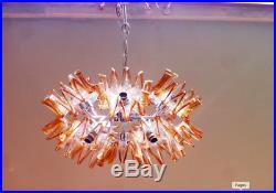 Mid-Century Sputnik Murano Glass Flower Chandelier by Mazzega, Italy, 1960s