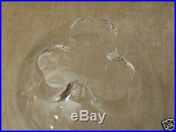 Mid-Century Steuben Art Glass Crystal Trillium Bowl Donald Pollard Design 1958