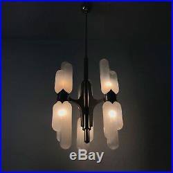 Mid Century TORPEDO Murano Glass CHANDELIER Pendant Lamp CARLO NASON for MAZZEGA