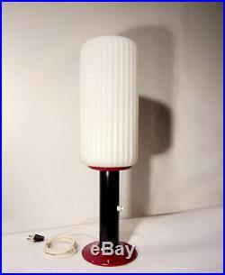 Mid Century Table Lamp Italian 1950s Opaline Glass Stilnovo Arteluce Arredoluce