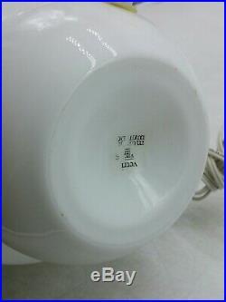 Mid Century Vetri Murano Glass Mushroom Lamp 10.5 EUC L4B