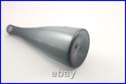 Mid Century Vintage Blenko Smoke Charcoal Decanter Genie Bottle Crystal Stopper