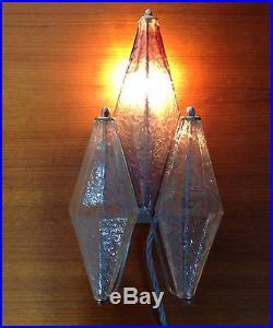 Mid Century Vintage Italian Venetian Glass Wall Light
