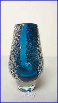 Mid-century Heinrich Loeffelhardt Schott Zwiesel German Art Glass Vase