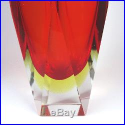 Mid century Murano sommerso glass Vase ollectible Flavio Poli Mandruzzato 1960s