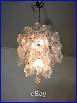 Mid century Top quality Murano vintage chandelier 52 Poliedri glasses