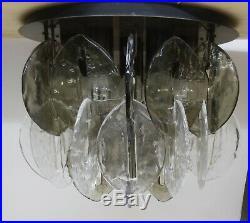 Mid century design Kalmar Franken ice glass Designer Deckenlampe Leuchte 60er
