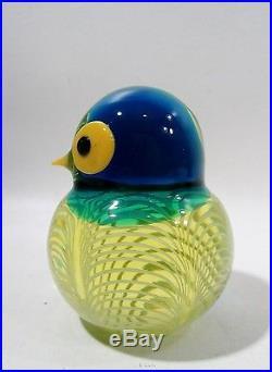 Midcentury GINO CENEDESE Italian Murano Glass OWL Bird Figurine Chick