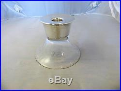 Midcentury Modern Allan Adler Sterling Silver & Glass Candleholder